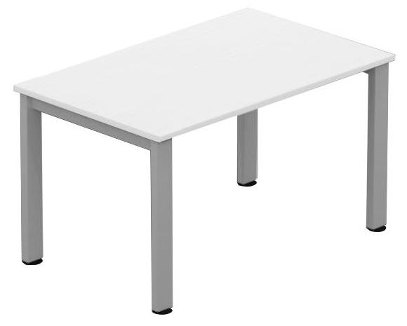 Image for Sonix Meeting Table Rectangular Silver Legs 1200mm White