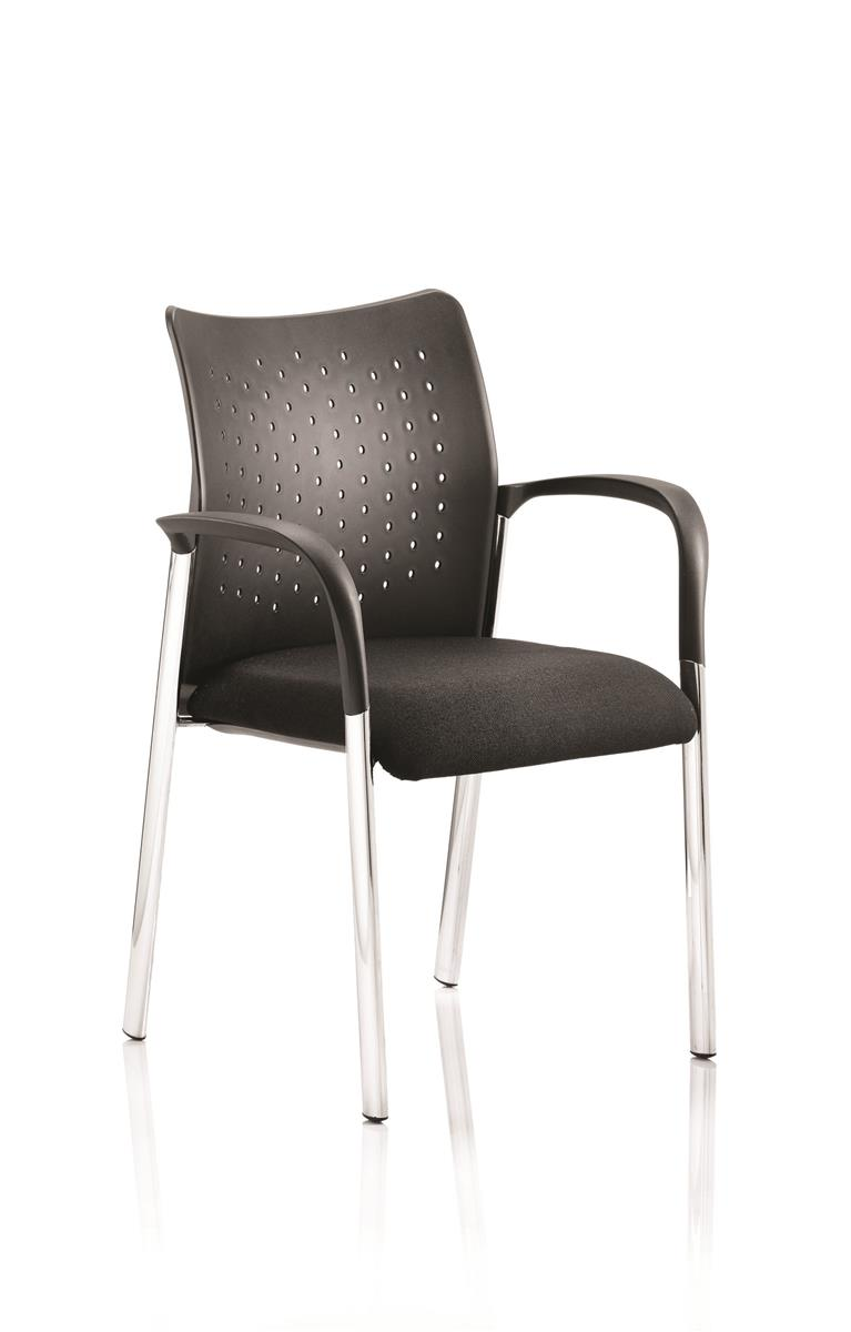 Image for Sonix Visitor Chair Static Arms Pre-assembled Fabric Black