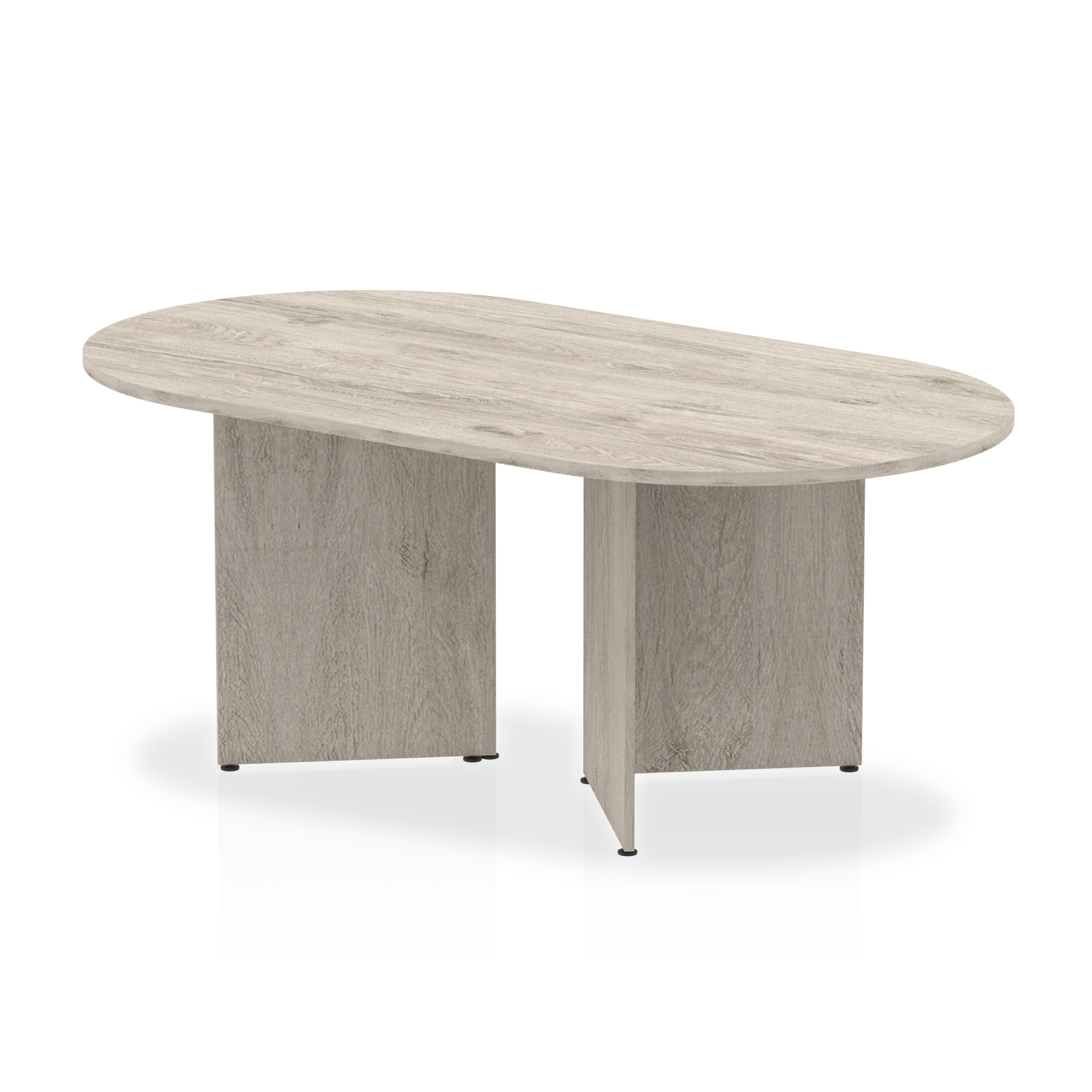 Trexus Boardroom Table Arrowhead 1800x1200x730mm Grey Oak