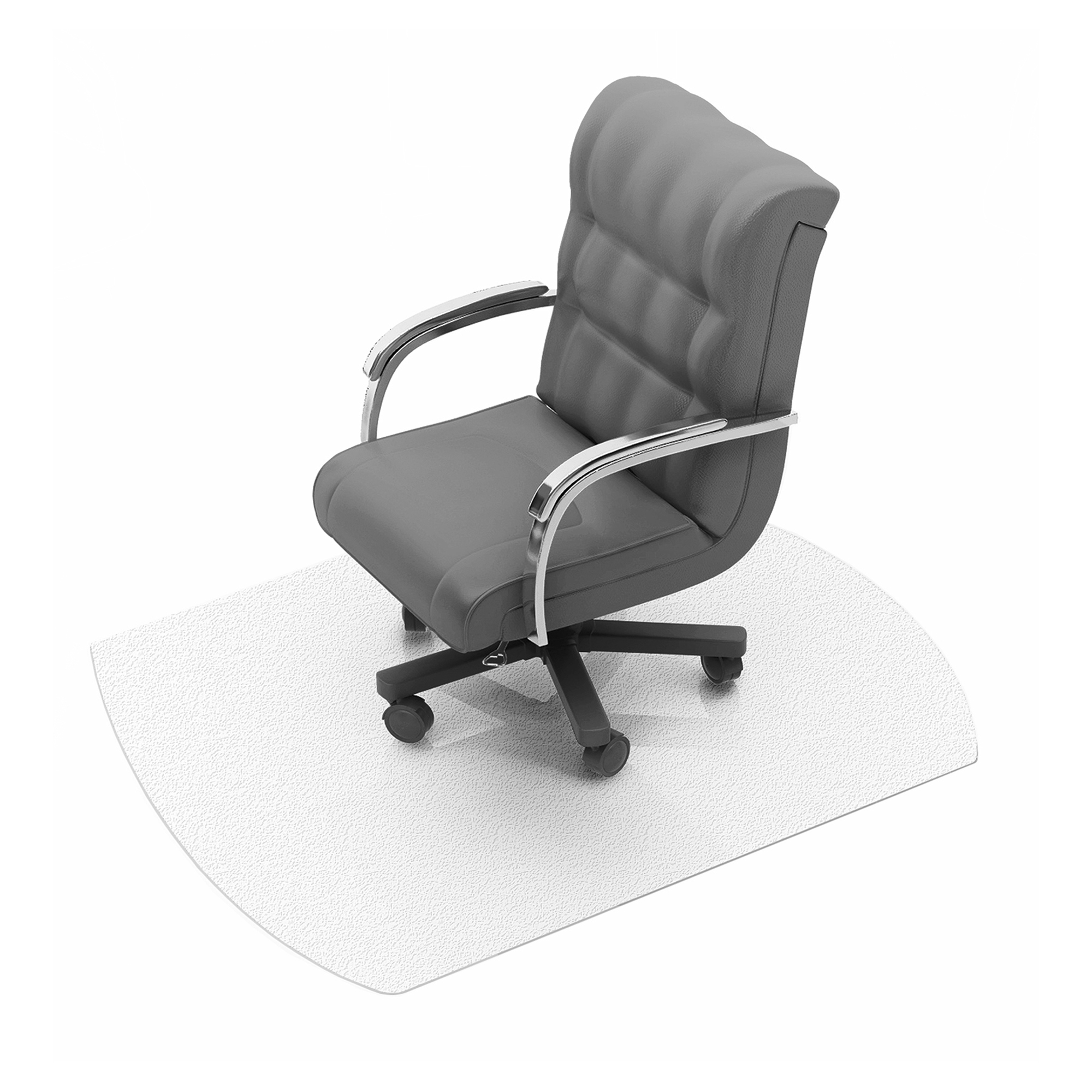 Chair mat Cleartex Ultimat Chair Mat Polycarbonate Contoured For Carpet Protection 990x1250mm Clear Ref FC119923SR