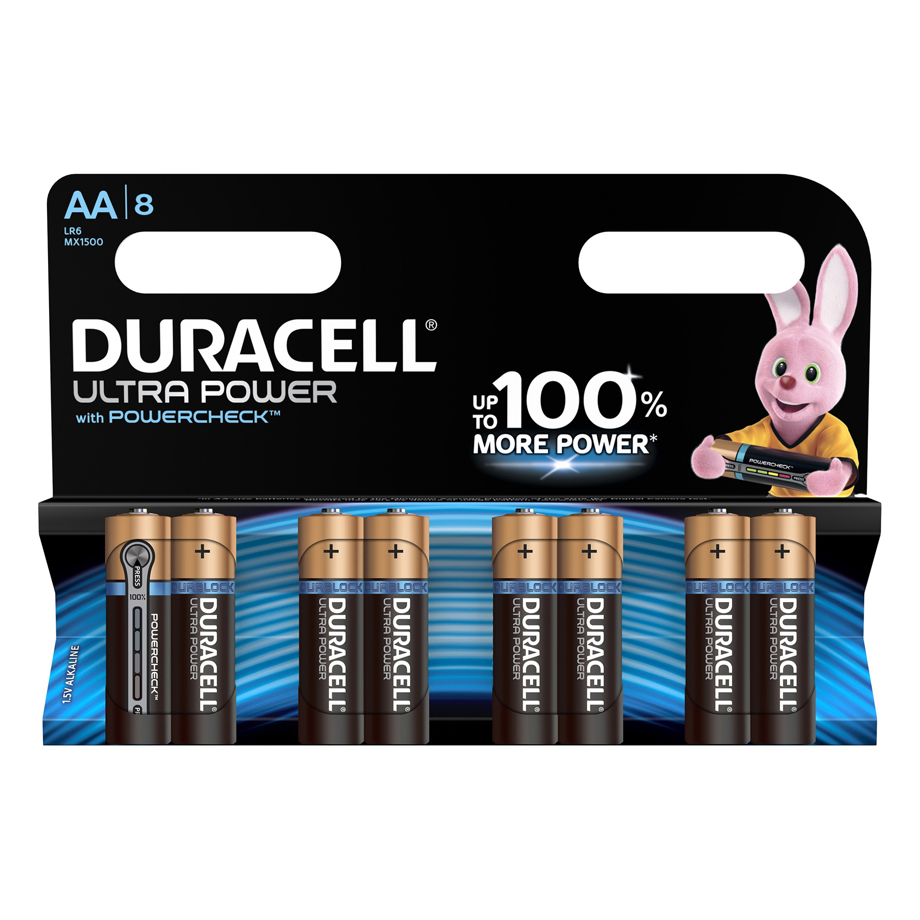AA Duracell Ultra Power MX1500 Battery Alkaline 1.5V AA Ref 81235497 Pack 8