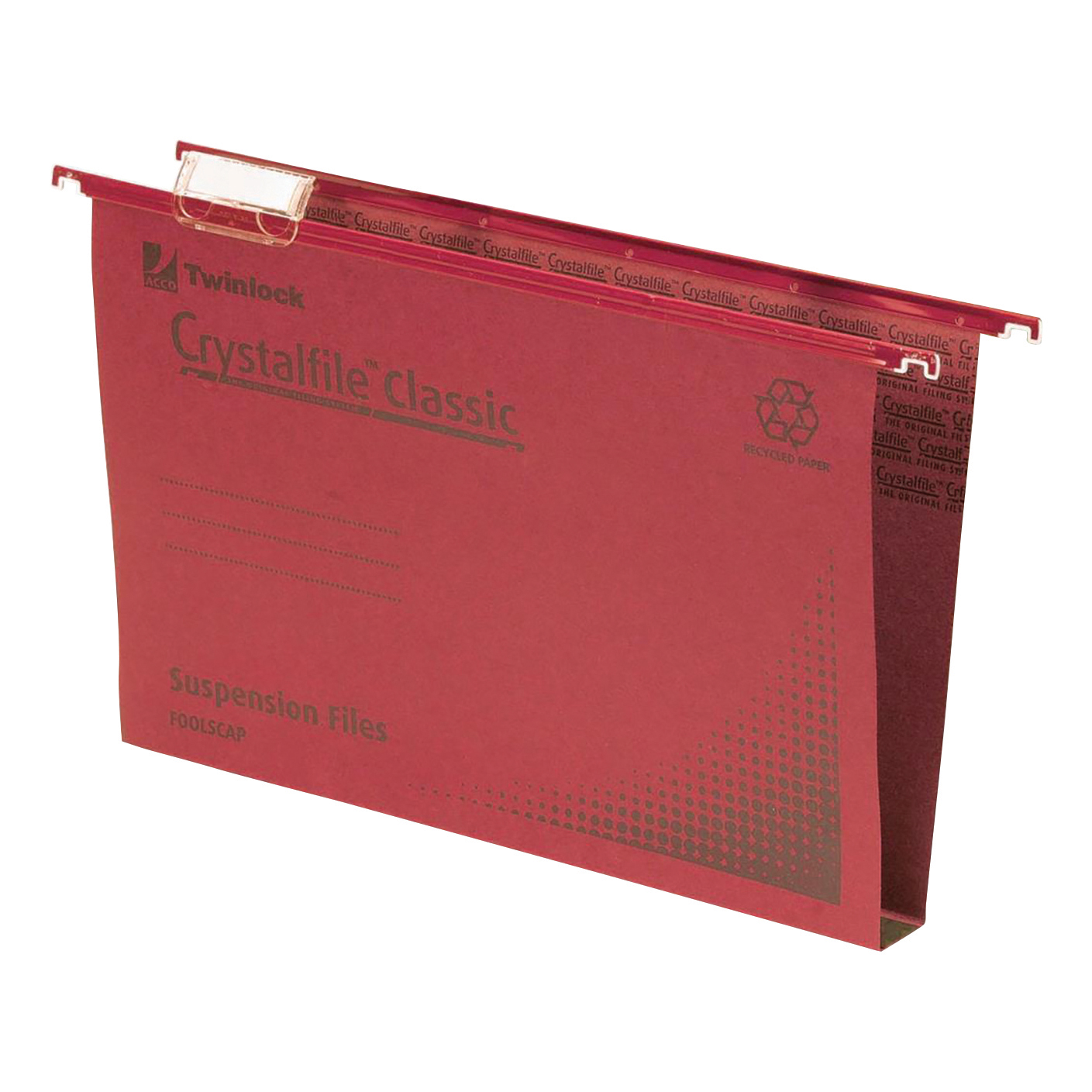 Suspension File Rexel Crystalfile Classic Suspension File Manilla 30mm Wide-base 230gsm Foolscap Red Ref 70622 Pack 50