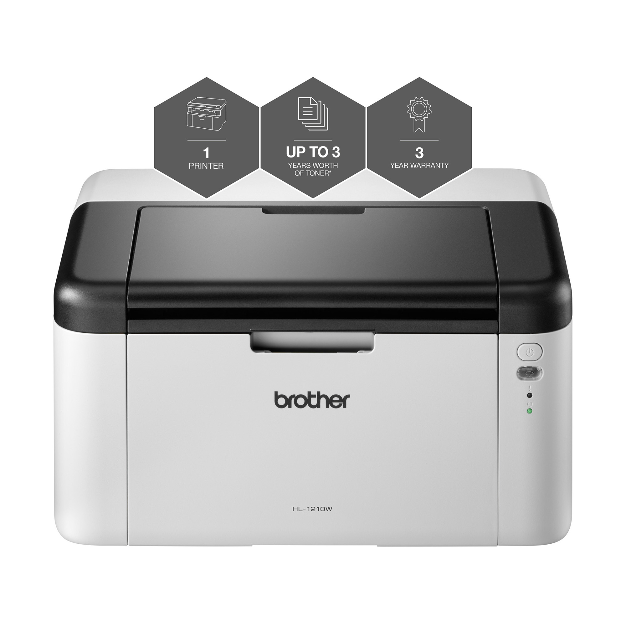 Multifunctional Machines Brother HL1210W All-in-Box Laser Printer Ref HL1210WVBZU1