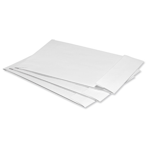 5 Star Office Envelopes Peel and Seal Window Gusset 25mm 120gsm C4 324x229x25mm White Pack 125