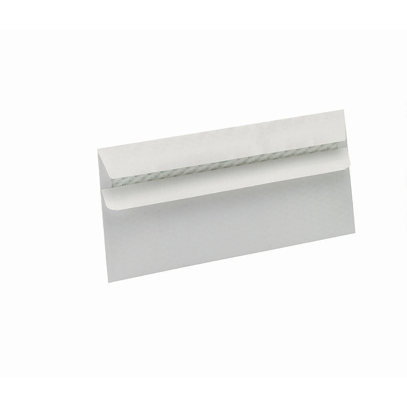 DL 5 Star Eco Envelopes Wallet Recycled Self Seal Window 90gsm DL 220x110mm White Pack 500