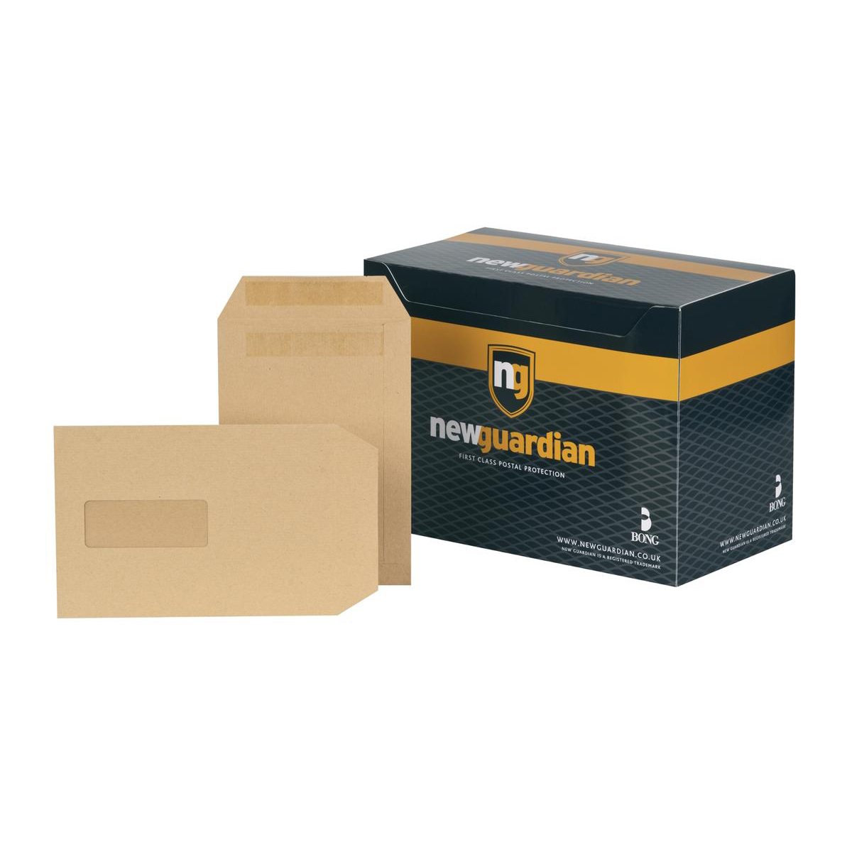C5 New Guardian Envelopes FSC Pocket Self Seal HvyWgt Wdw 130gsm C5 229x162mm Manilla Ref A23013 Pack 250