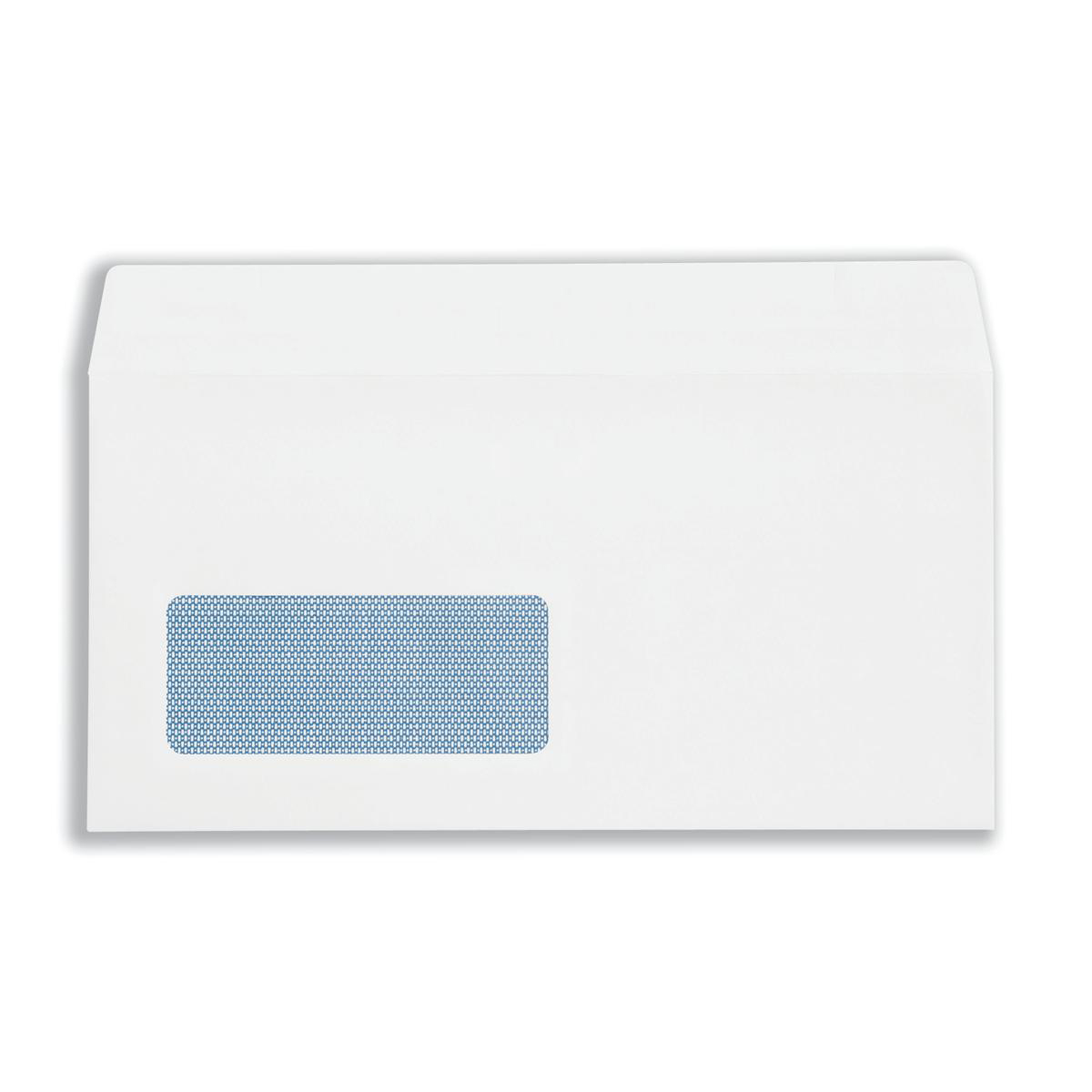 Plus Fabric Envelopes Wallet Self Seal Window 120gsm DL 110x220mm White Ref C23370 Pack 250