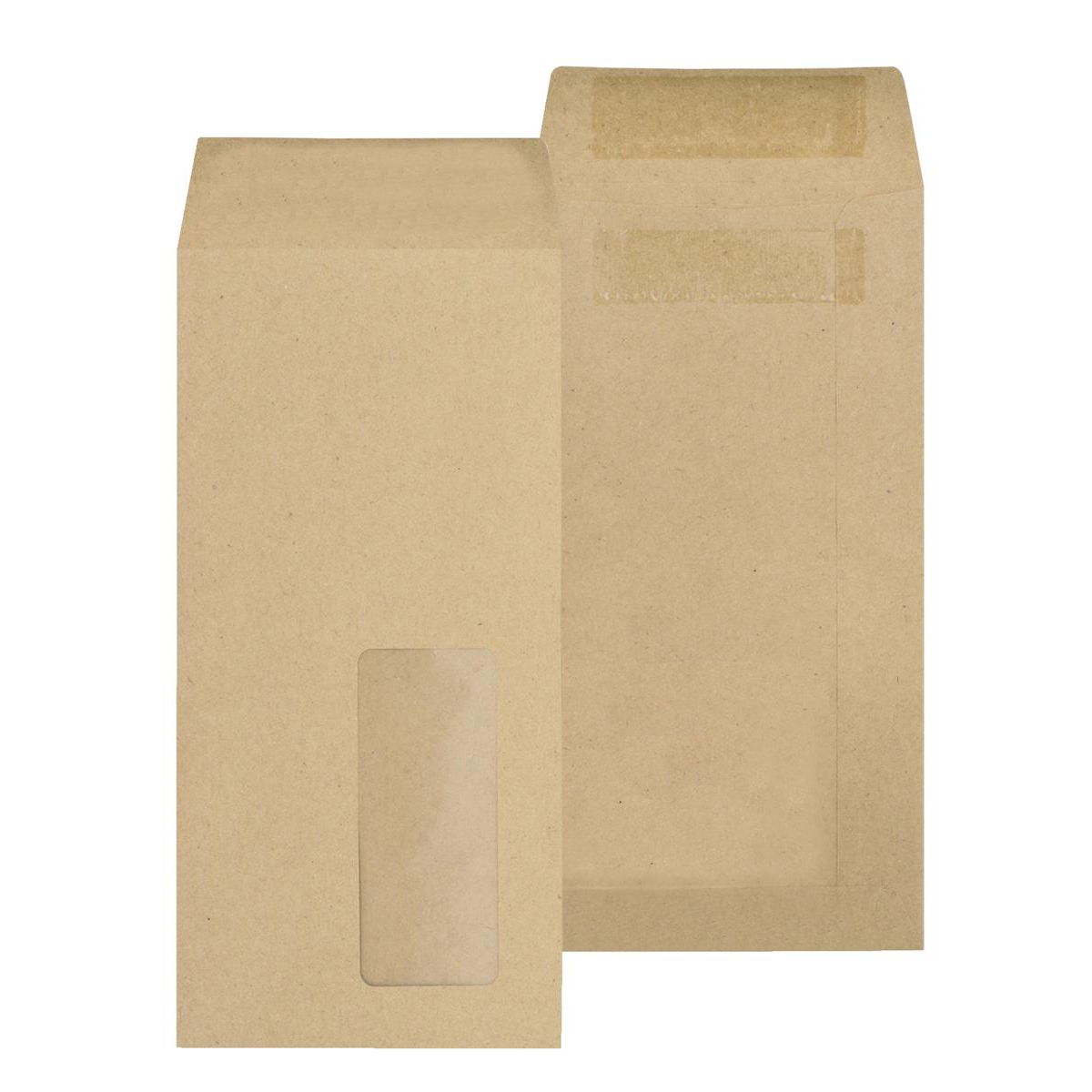 DL New Guardian Envelopes Pocket Self Seal Window 80gsm DL 220x110mm Manilla Ref D25311 Pack 1000