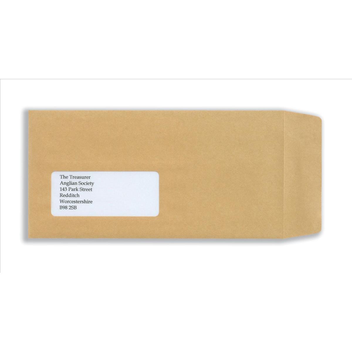 New Guardian Envelopes Pocket Self Seal Window 80gsm DL 220x110mm Manilla Ref D25311 Pack 1000