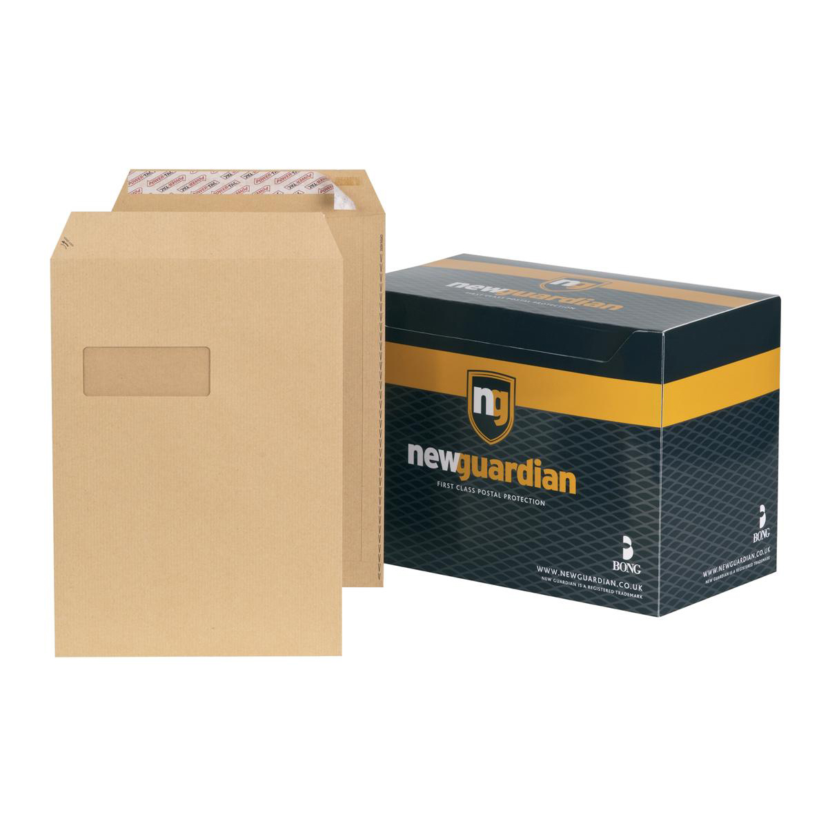 C4 New Guardian Envelopes Pocket Peel & Seal Window 130gsm C4 324x229mm Manilla Ref F24203 Pack 250