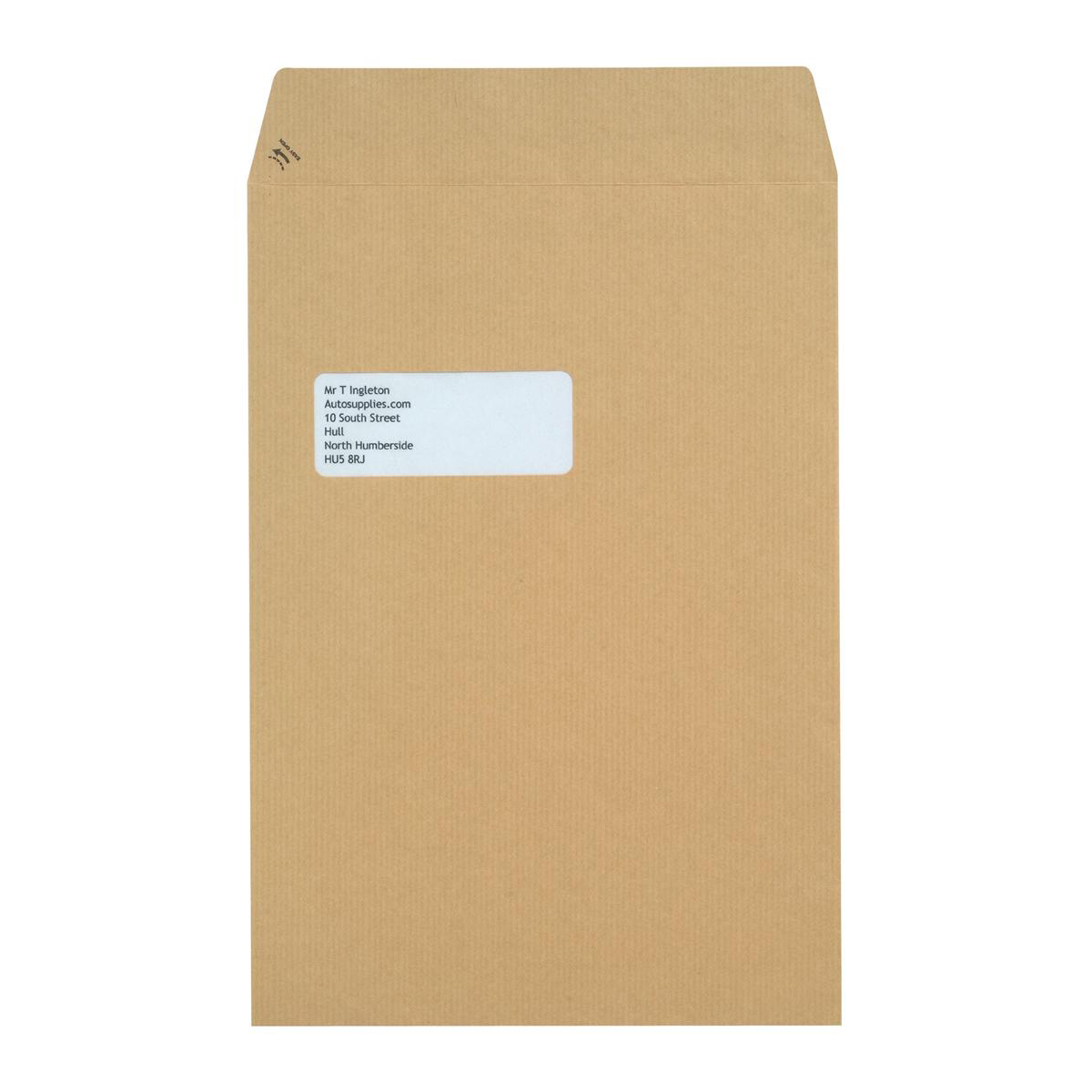 New Guardian Envelopes Pocket Peel & Seal Window 130gsm C4 324x229mm Manilla Ref F24203 Pack 250