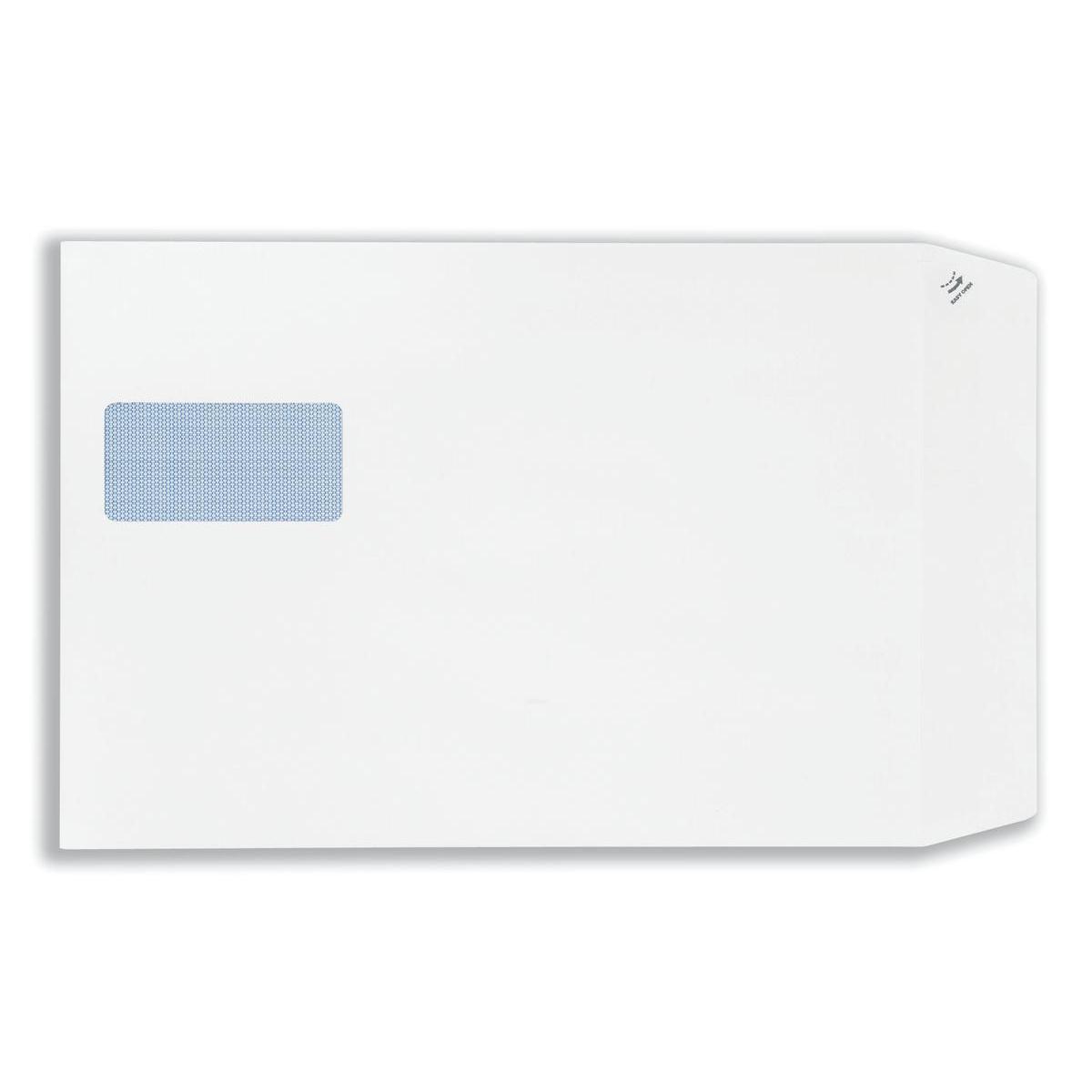 Plus Fabric Envelopes PEFC Pocket Peel & Seal Hrzntal Wdw 120gsm C4 324x229mm White Ref F28749 Pack 250