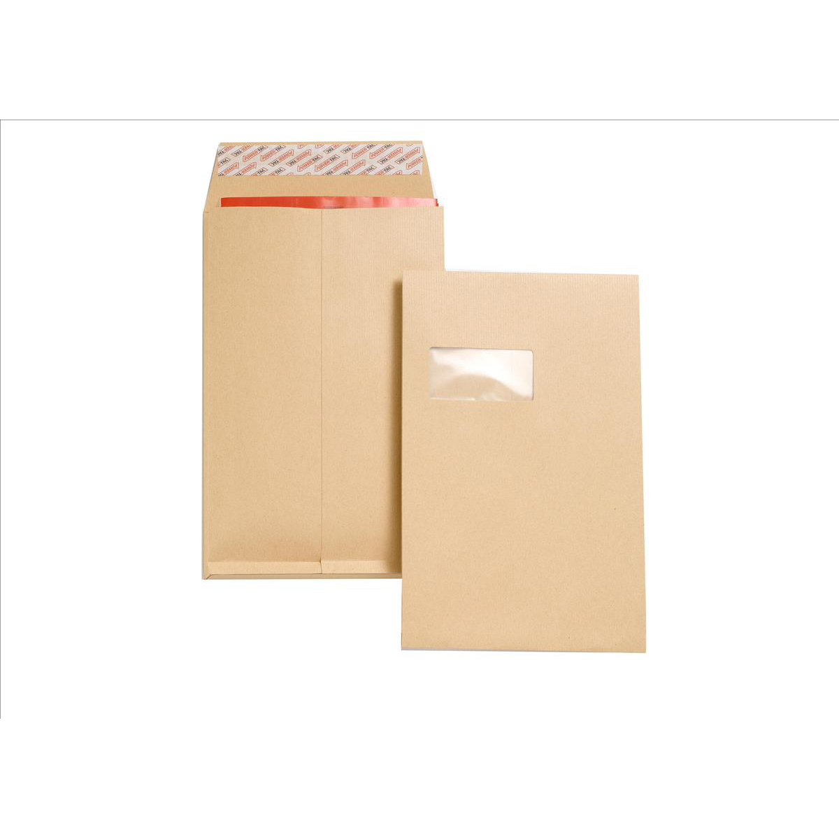 Gusset Envelopes New Guardian Envelopes FSC Peel & Seal Window Gusset 130gsm C4 324x229x25mm Manilla Ref J27366 Pack 100