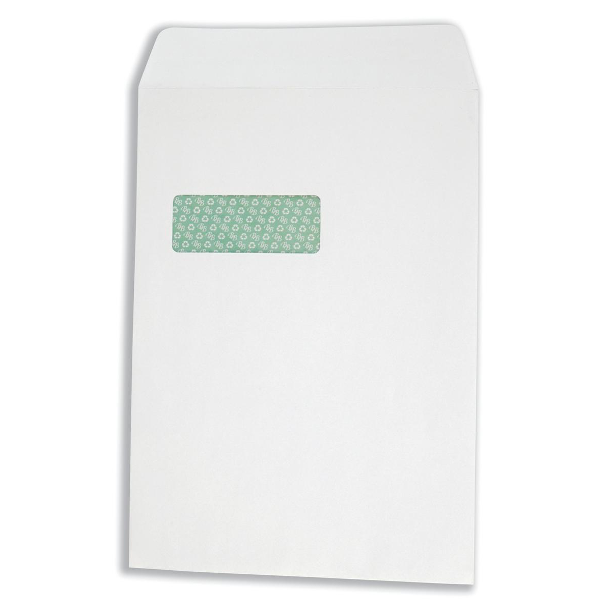 Basildon Bond Envelopes FSC Recycled Pocket P&S Window 120gsm C4 White Ref K80121 Pack 250