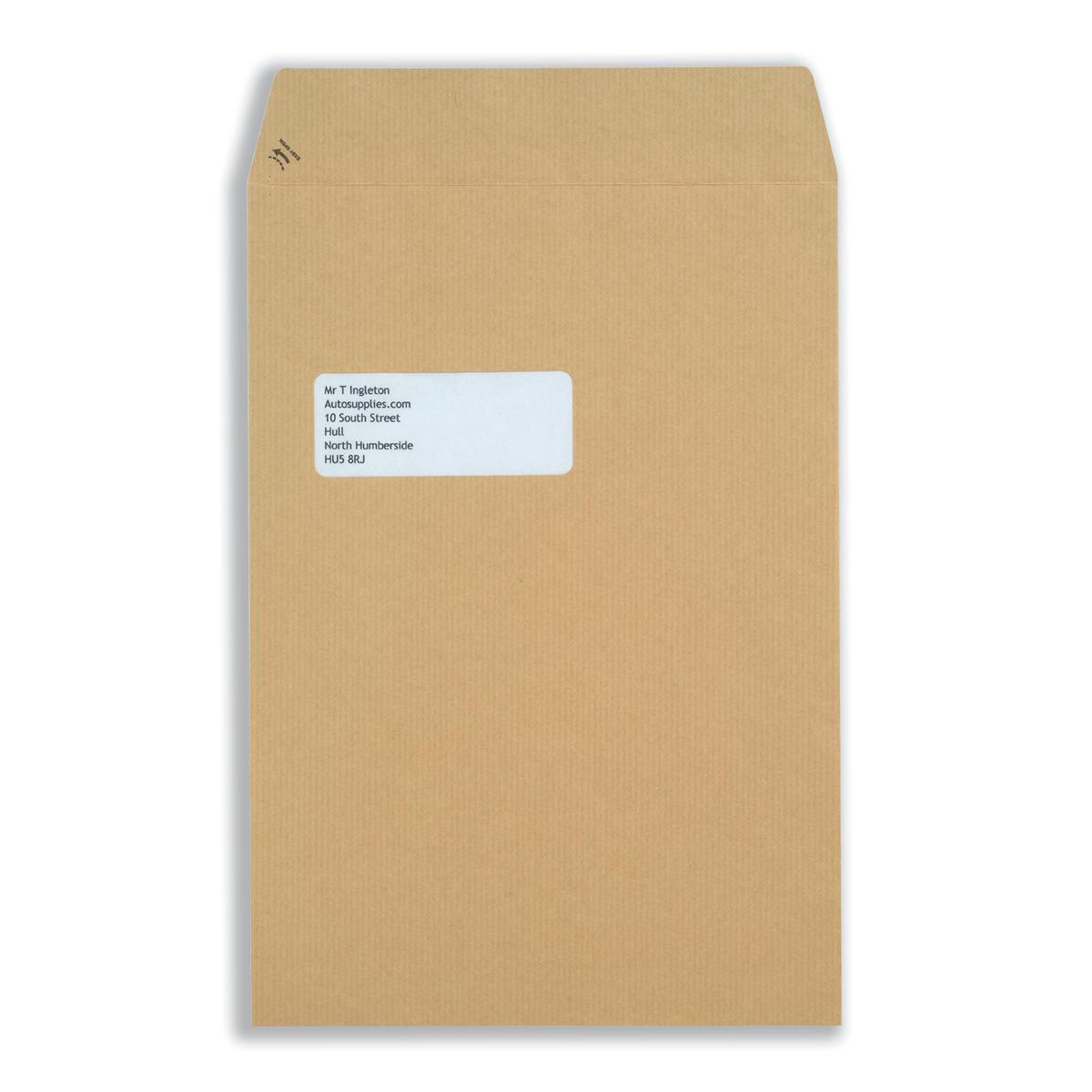 New Guardian Envelopes Pocket Self Seal Window 130gsm C4 324x229mm Manilla Ref M27503 Pack 250