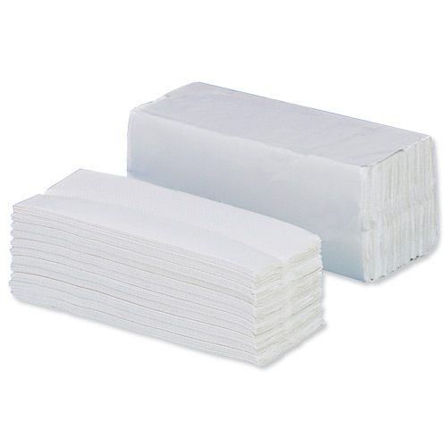 5 Star Facilities Hand Towel Z-Fold Two-ply Sheet Size 230x240mm 200 Towels Per Sleeve White [Pack 15]