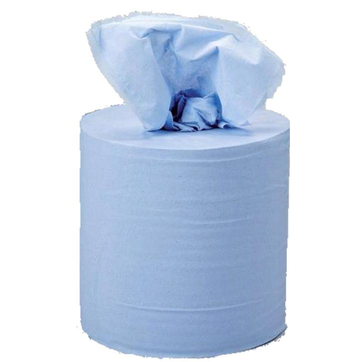 5 Star Facilities Centrefeed Tissue Refill for Jumbo Dispenser Two-ply L150mxW180mm Blue Pack 6