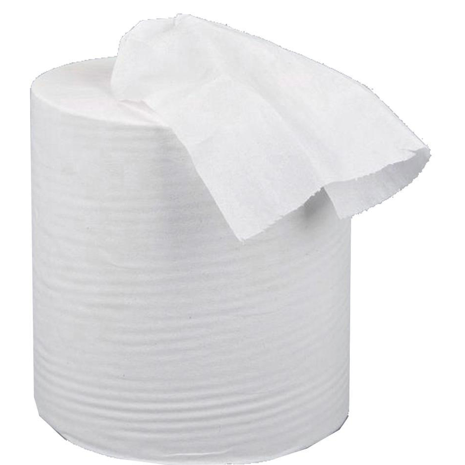 Hand Towels & Dispensers 5 Star Facilities Centrefeed Tissue Refill for Jumbo Dispenser Two-ply L150mxW180mm White Pack 6