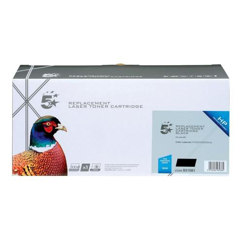 5 Star Office Remanufactured Laser Toner Cartridge 3500pp Black [HP 304A CC530A Alternative]