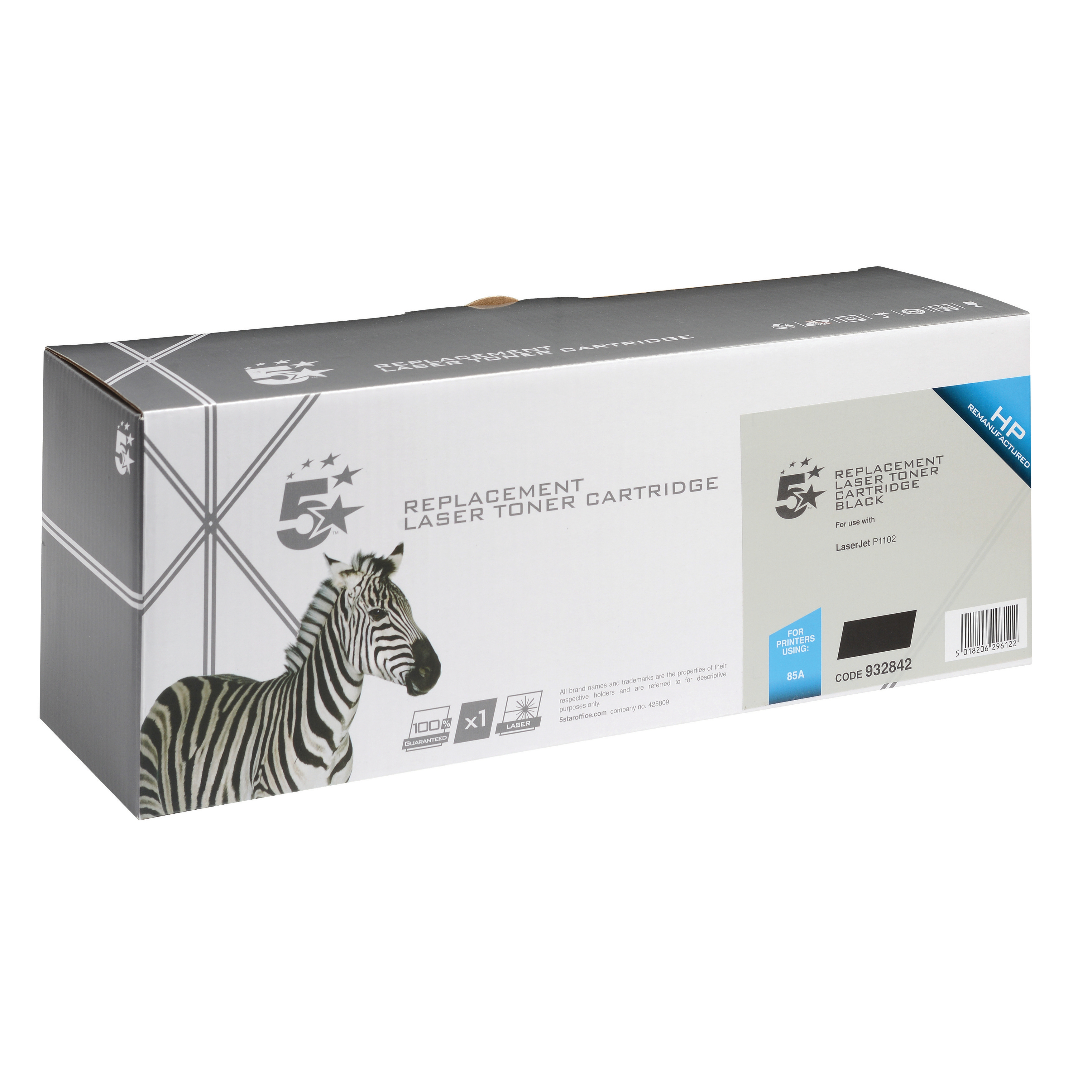 5 Star Office Remanufactured Laser Toner Cartridge Page Life1600pp Black [HP 85A CE285A Alternative]