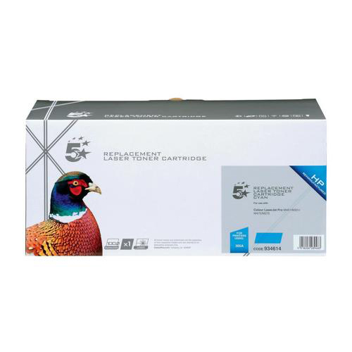 5 Star Office Remanufactured Laser Toner Cartridge 2600pp Cyan [HP 305A CE411A Alternative]