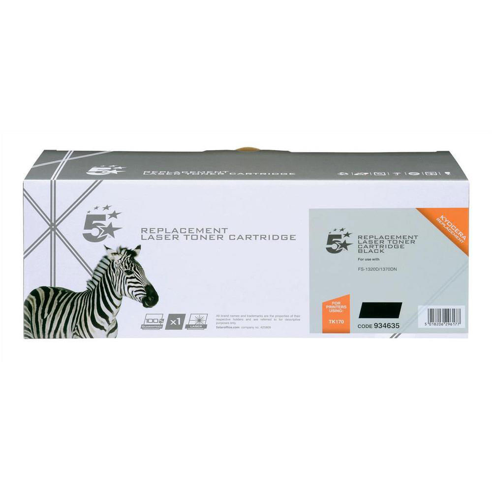 5 Star Office Reman Laser Toner Cartridge Page Life 7200pp Black [Kyocera TK-170 1T02LZ0NLC Alternative]