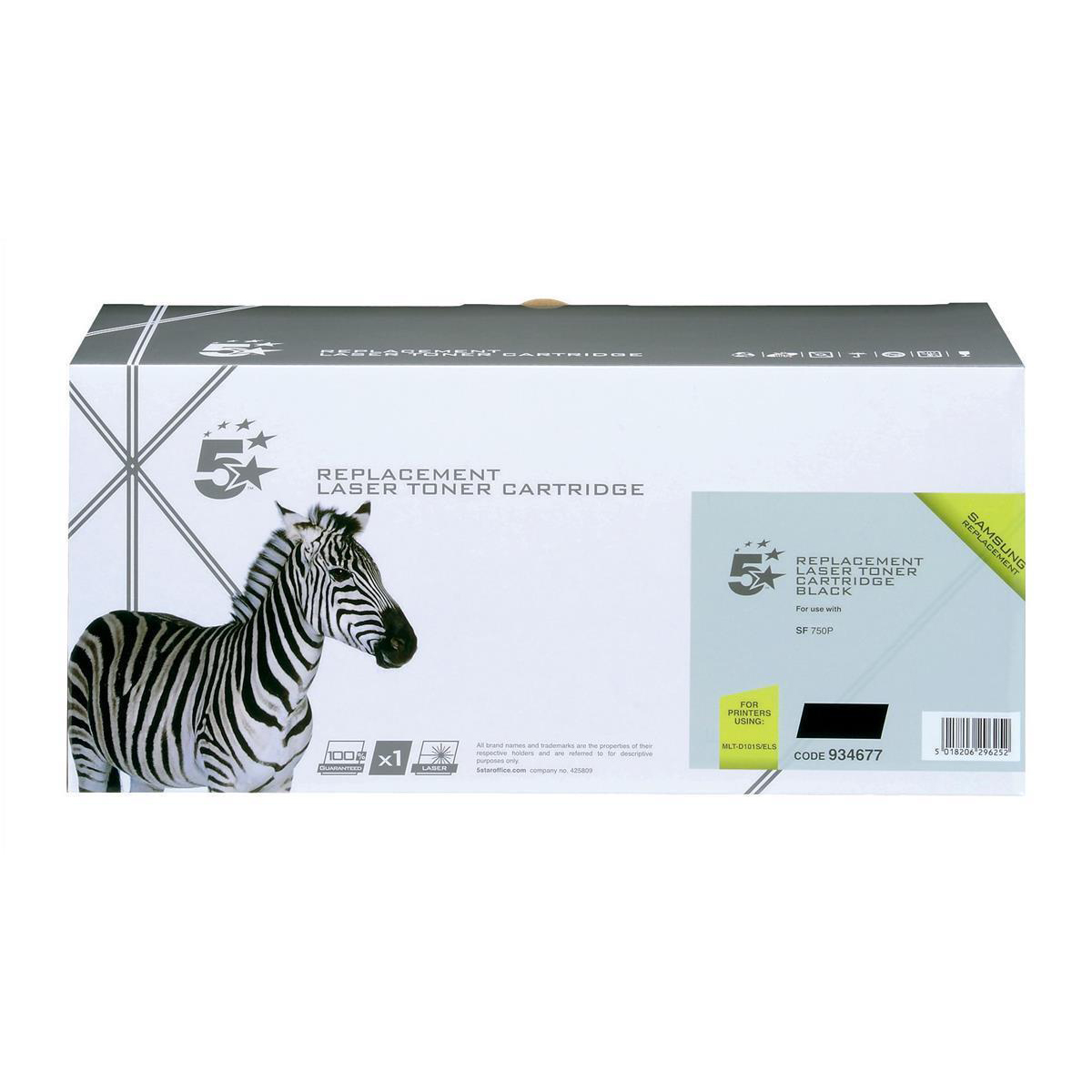 5 Star Office Remanufactured Laser Toner Cartridge PageLife 1500pp Black [Samsung MLT-D101S Alternative]