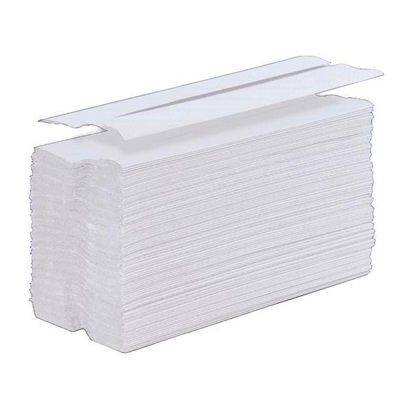 Hand Towels & Dispensers 5 Star Facilities Hand Towel C-Fold One-Ply Recycled Size 230x310mm 100 Towels Per Sleeve White Pack 24
