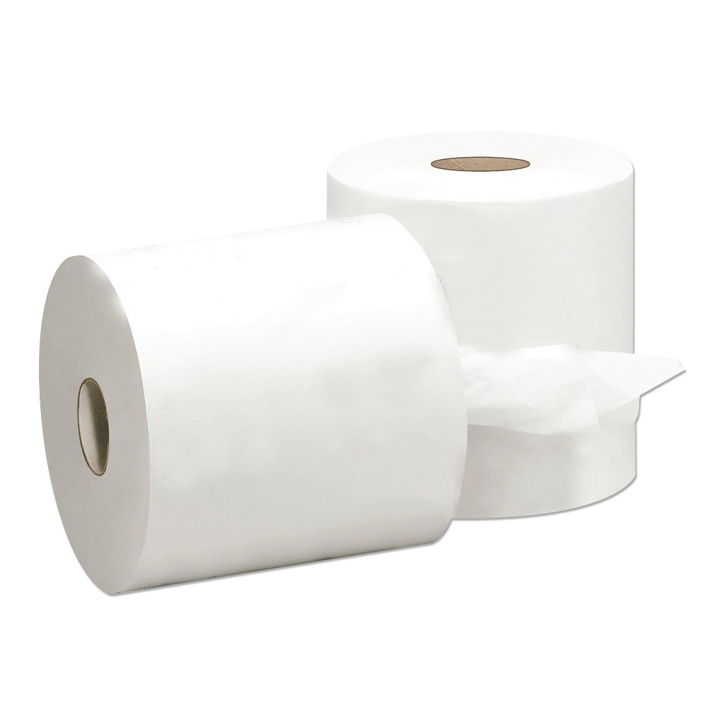 5 Star Facilities Centrefeed Tissue Refill for Jumbo Dispenser Single-ply L300mxW180mm White [Pack 6]