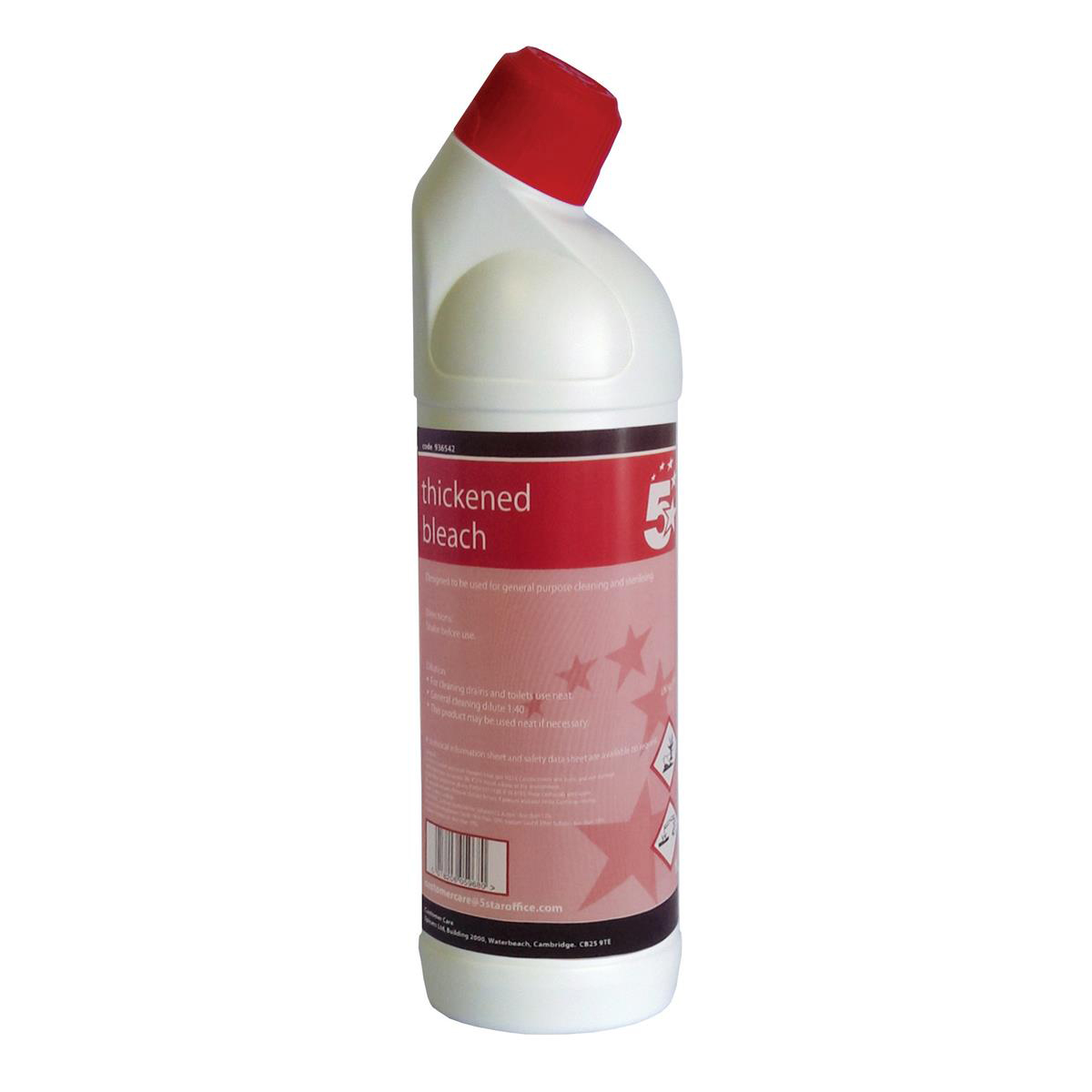 Disinfectant 5 Star Facilities Thickened Bleach General Purpose Cleaner 1 Litre