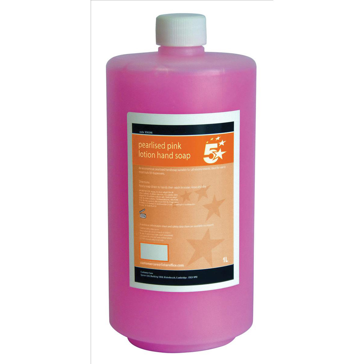Floor Cleaning 5 Star Facilities Lotion Hand Soap Pearlised Pink 1 litre