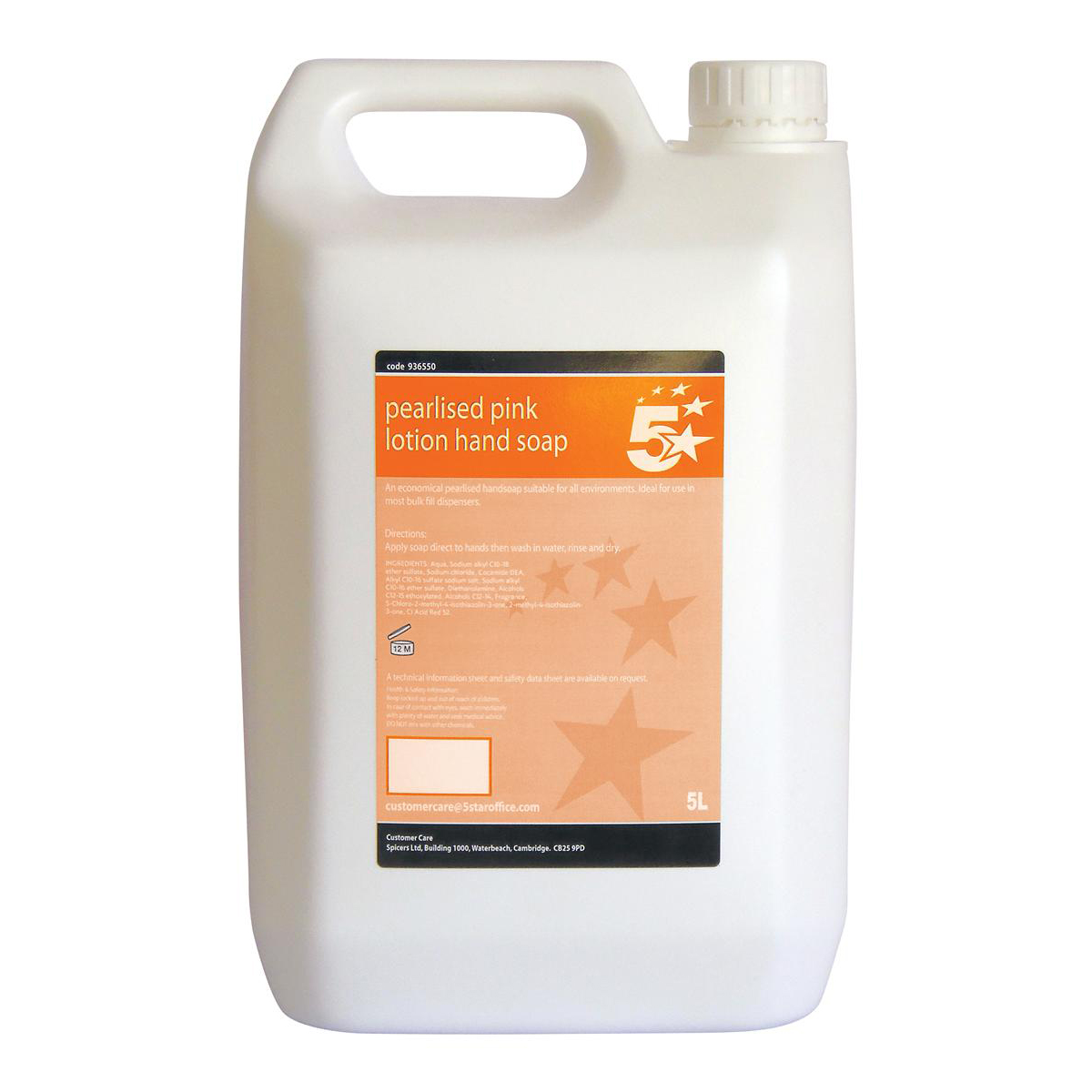 Floor Cleaning 5 Star Facilities Lotion Hand Soap Pearlised Pink 5 Litre