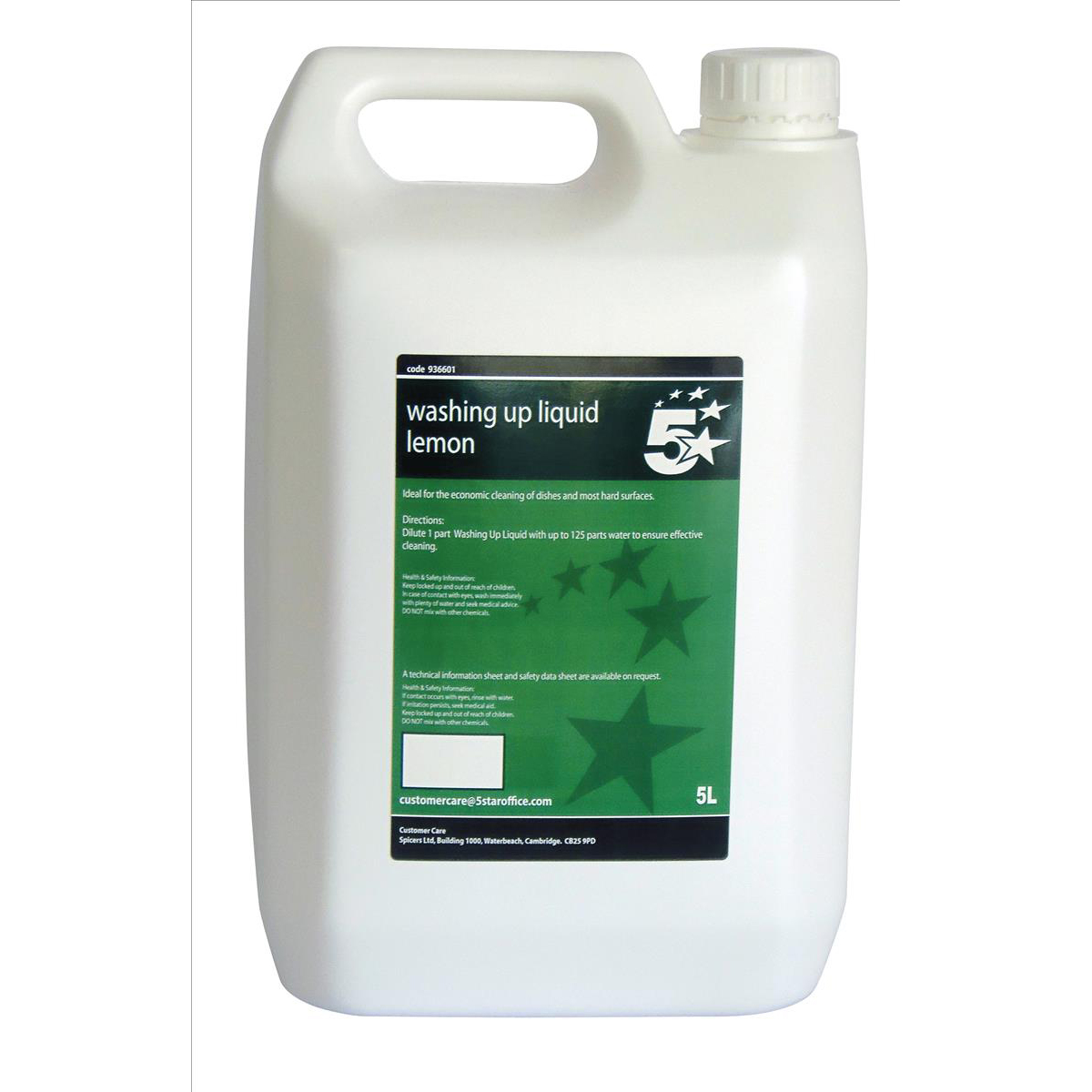 5 Star Facilities Washing-up Liquid Lemon 5 Litres