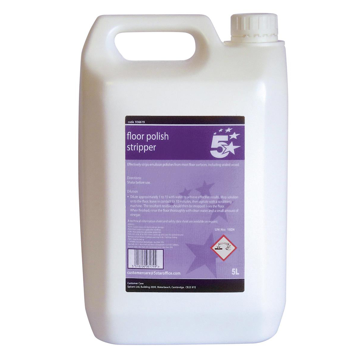 Floor Cleaning 5 Star Facilities Floor Polish Stripper 5 Litre