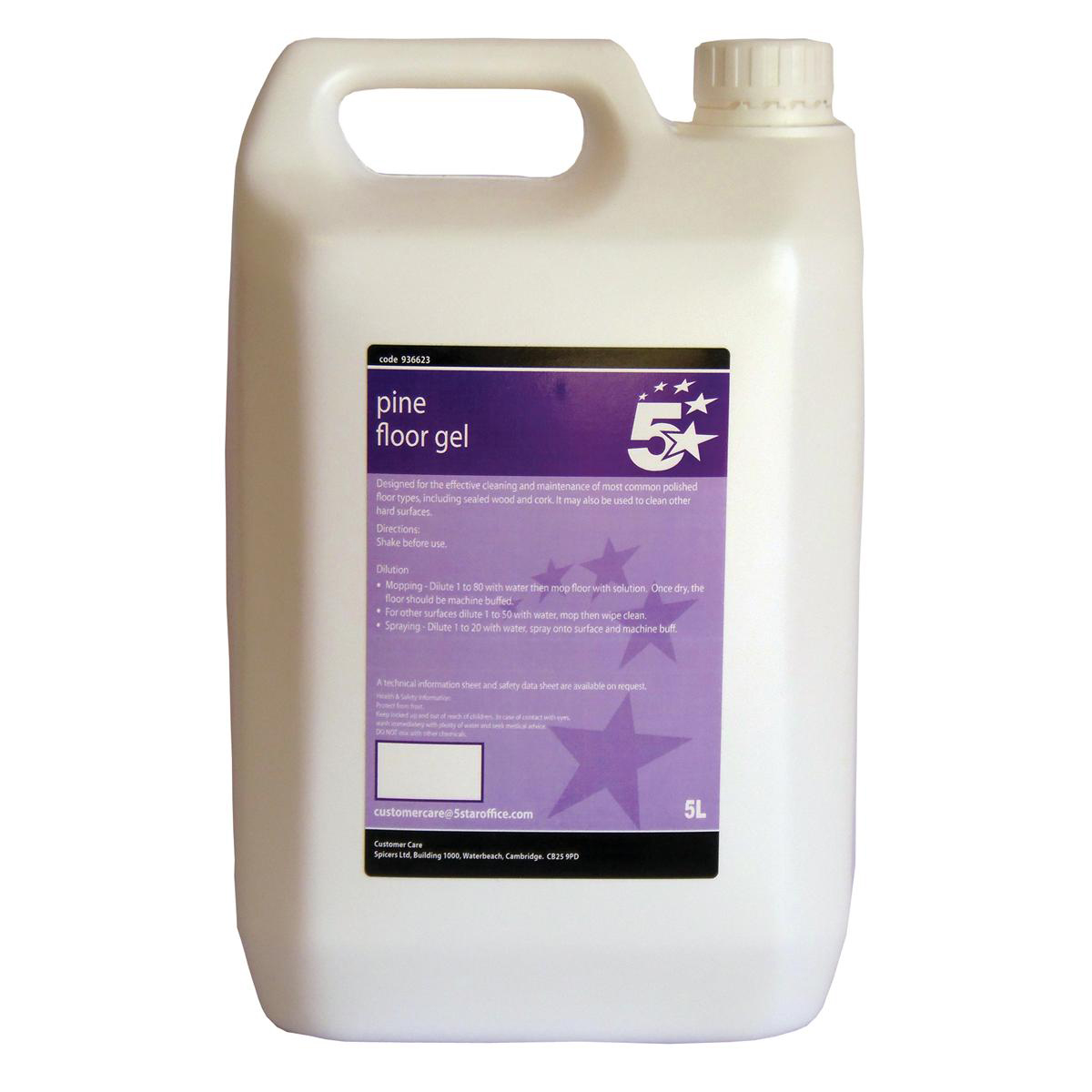 Floor Cleaning 5 Star Facilities Pine Floor Gel 5 Litres
