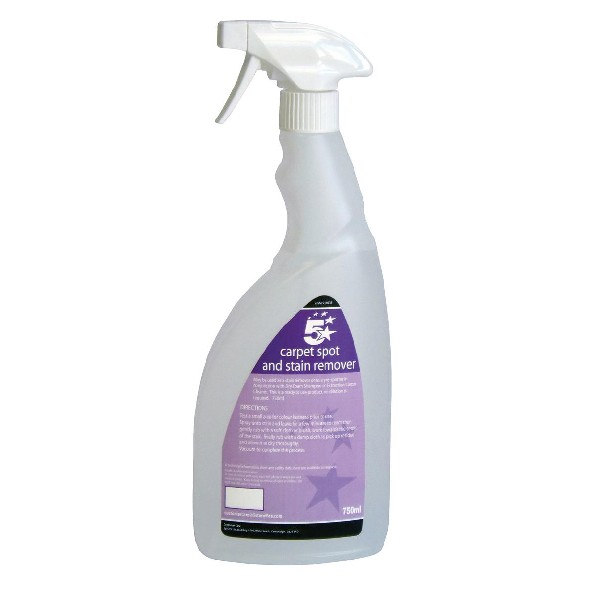 Image for 5 Star Facilities Carpet Spot and Stain Remover 750ml