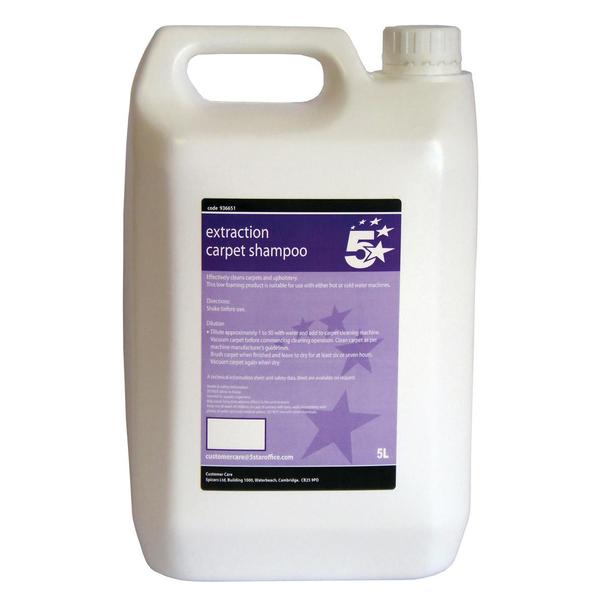 5 Star Facilities Extraction Carpet Shampoo 5 Litre