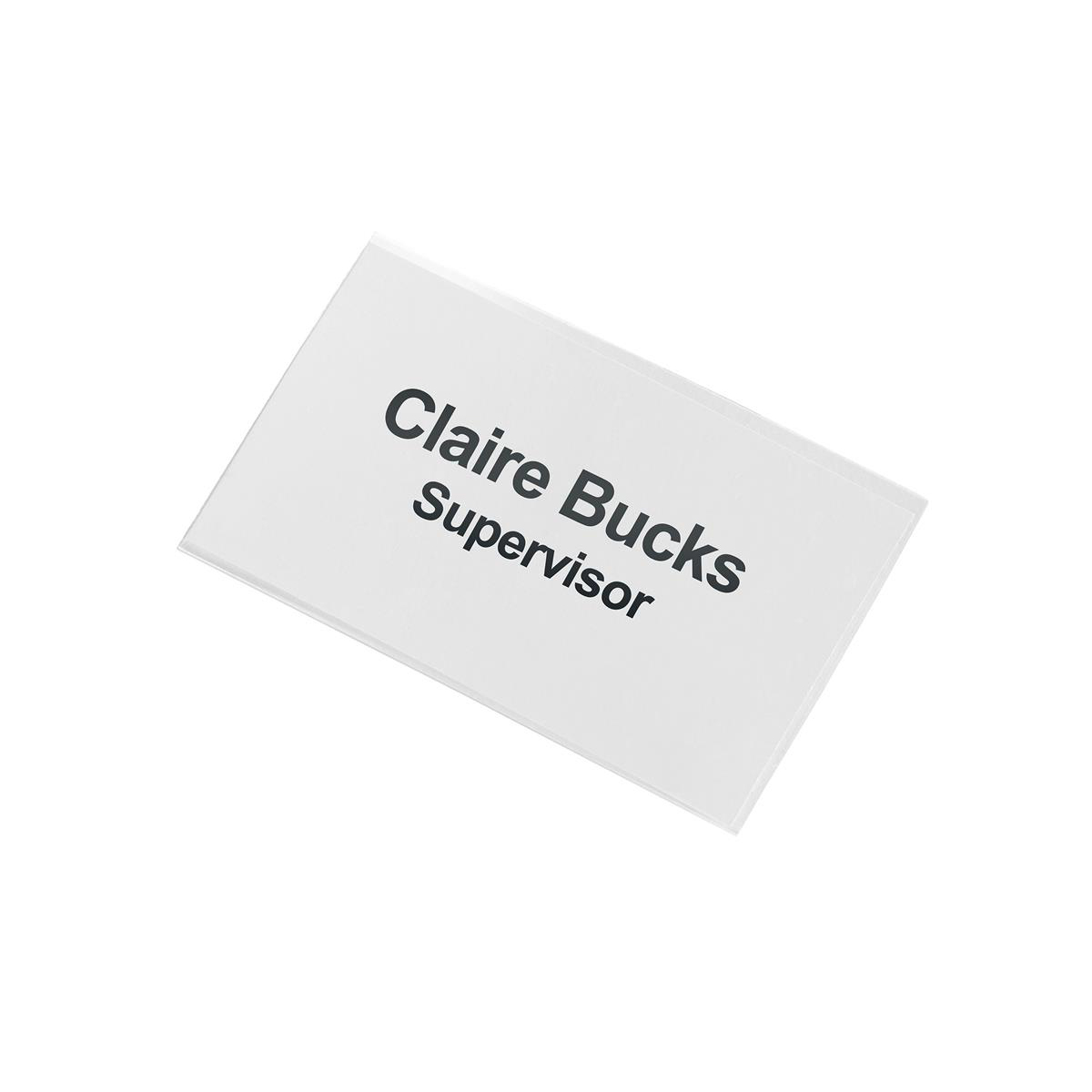 5 Star Office Name Badge with Combi-Clip 45x75mm Pack 50
