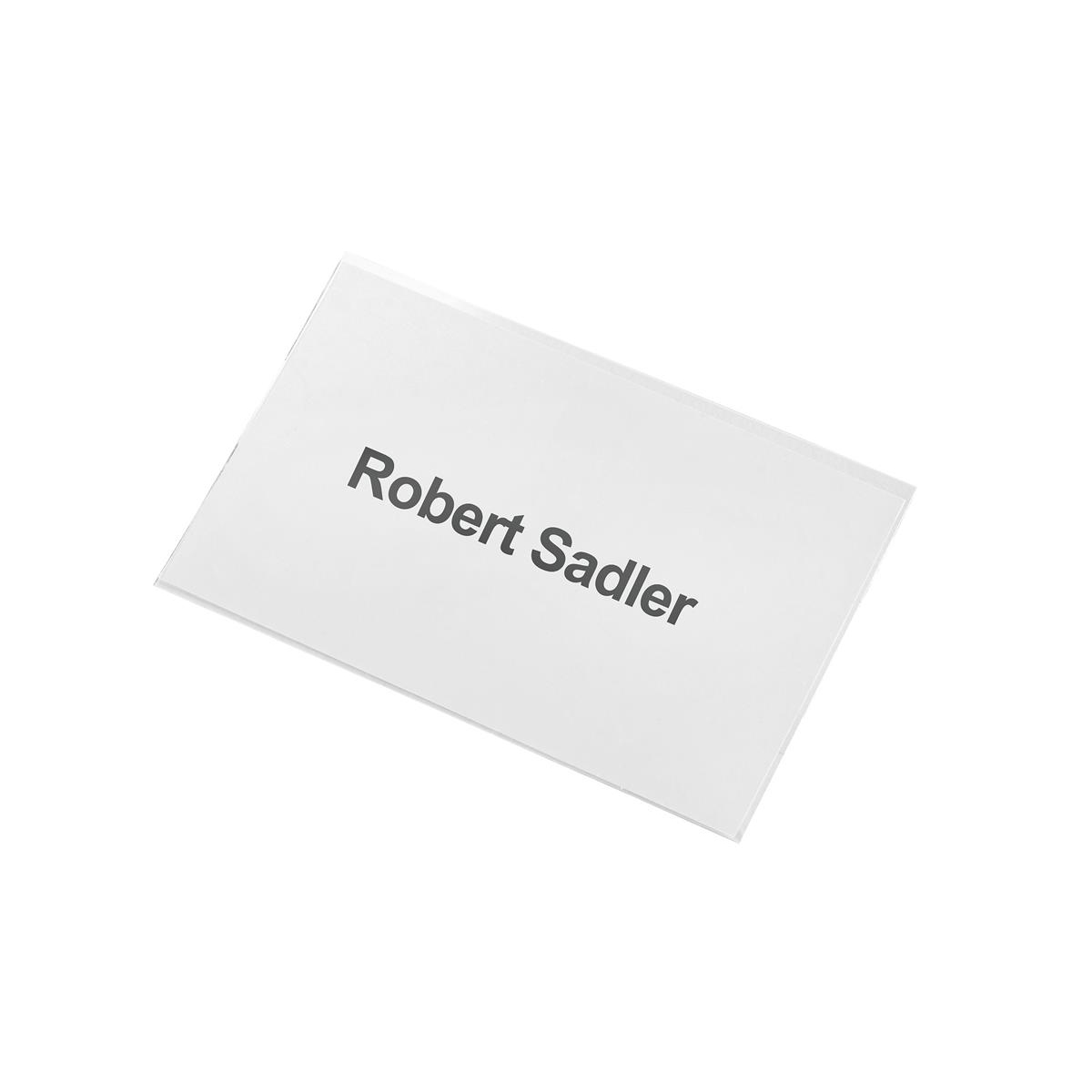 5 Star Office Name Badge with Combi-Clip PVC 54x90mm Pack 25