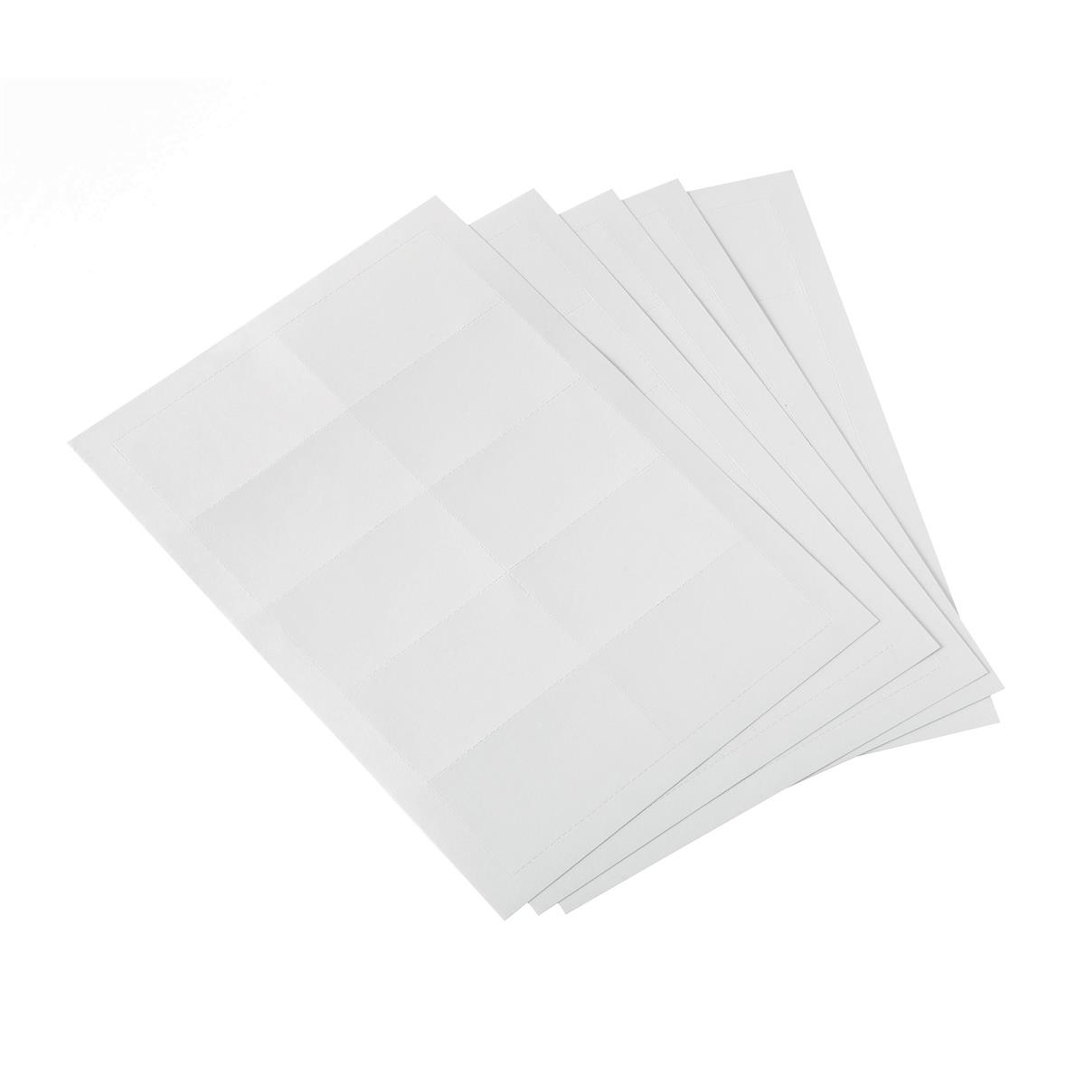 Inserts 5 Star Office Badge Inserts 54x90mm 20 Sheets of 10 200 Inserts