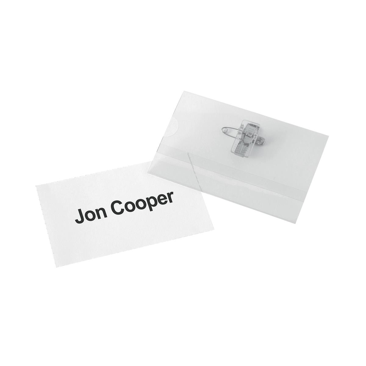 5 Star Office Badge Inserts 54x90mm 20 Sheets of 10 200 Inserts