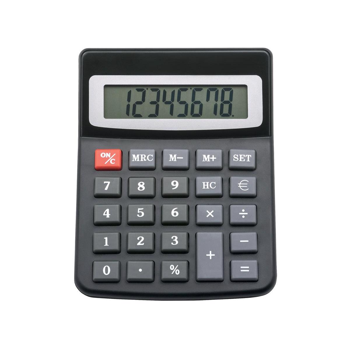 5 Star Office Desktop Calculator 8 Digit Display 3 Key Memory Battery/Solar Power 100x13x130mm Black