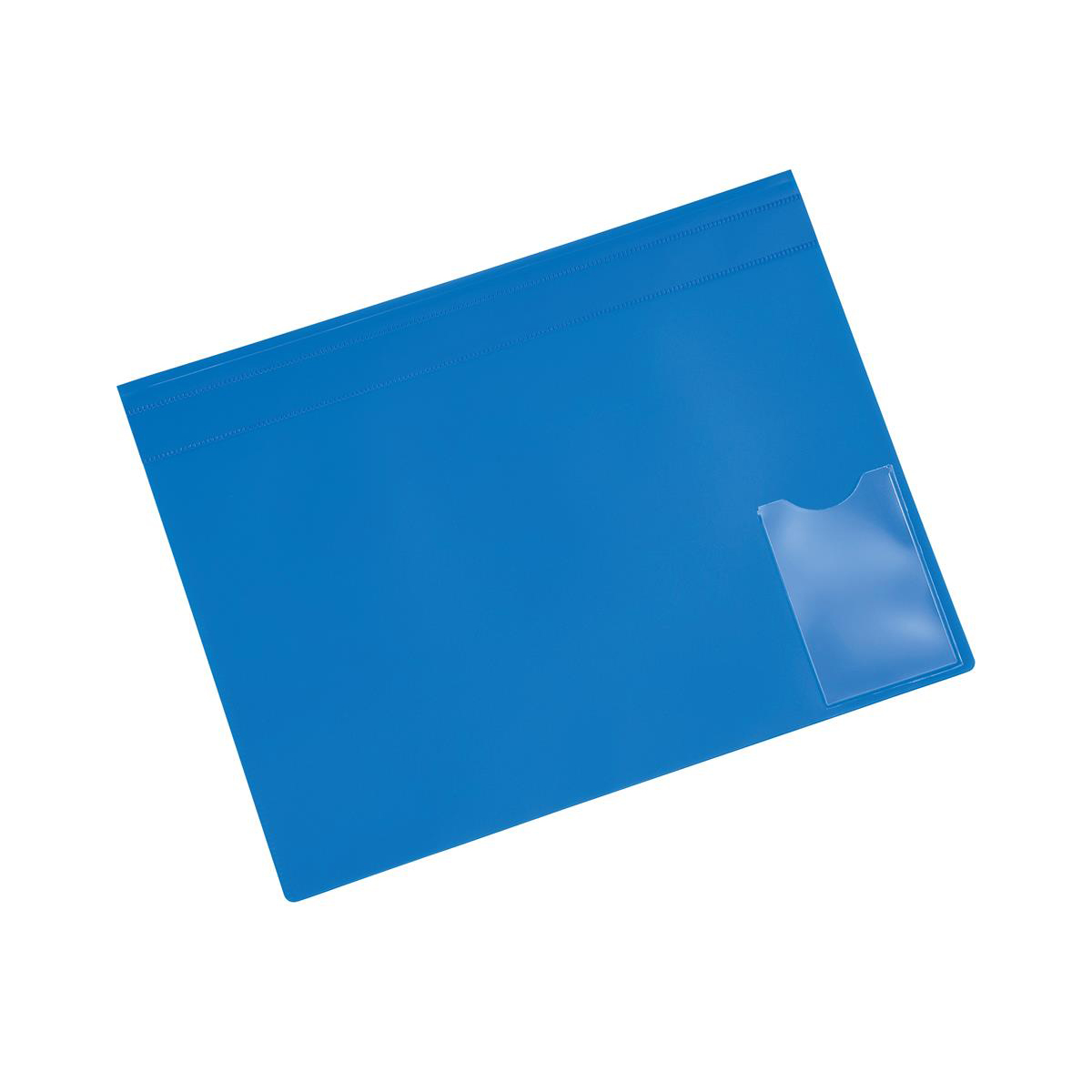 5 Star Office Executive Flat File Semi-rigid Opaque Cover A4 Blue [Pack 5]