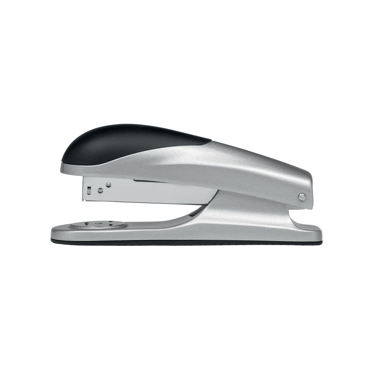 Desktop Staplers 5 Star Elite Stapler Half Strip Capacity 20 Sheets Silver