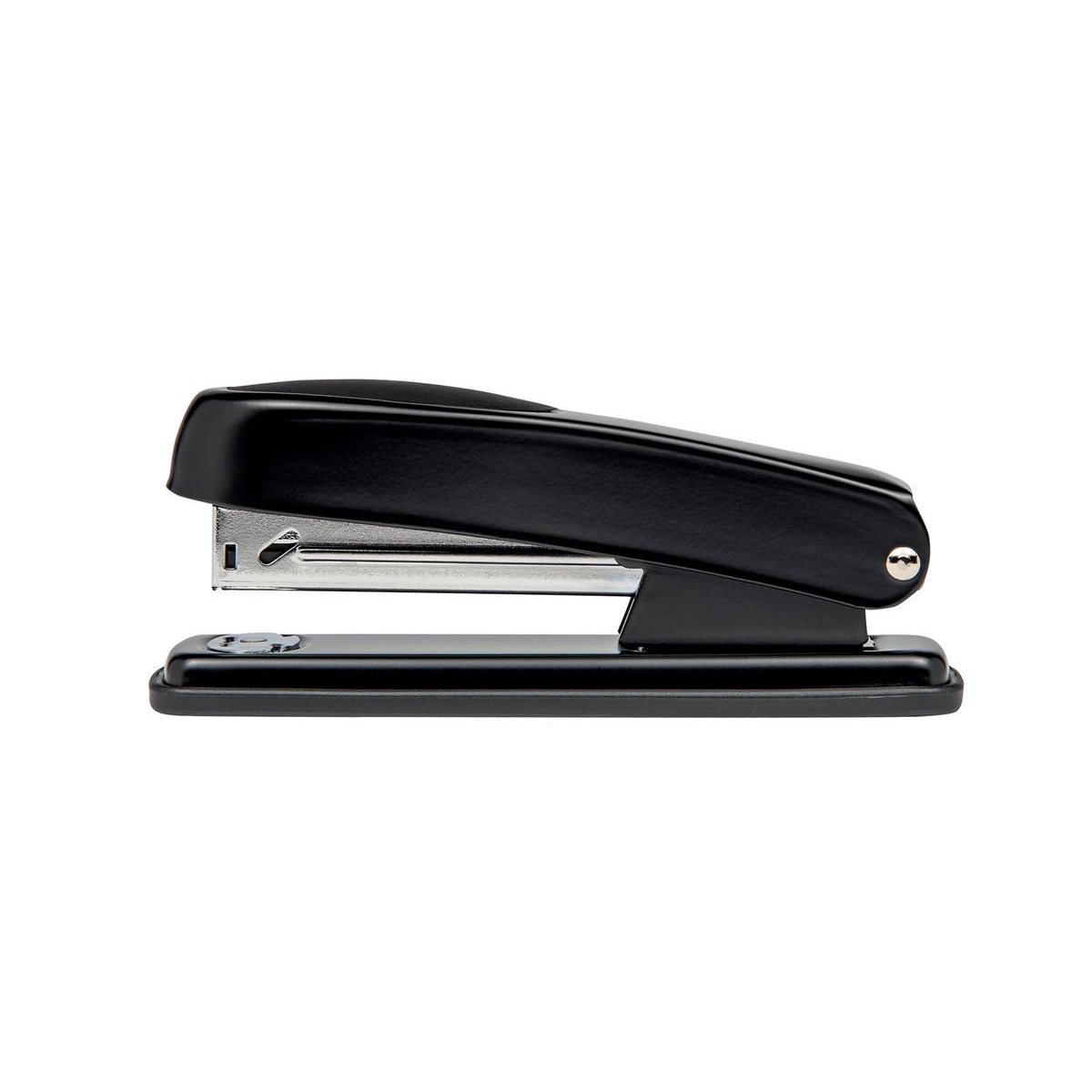 Long Arm Staplers 5 Star Office Metal Half Strip Stapler Soft Grip 20 Sheet Capacity Takes 26/6 Staples Black