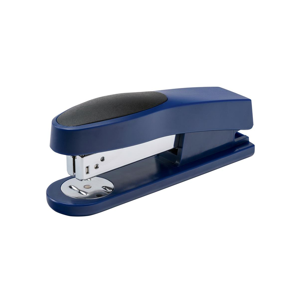 5 Star Office Half Strip Stapler Top Loading Rubber Base 25 Sheet Capacity Takes 26/6 Staples Blue