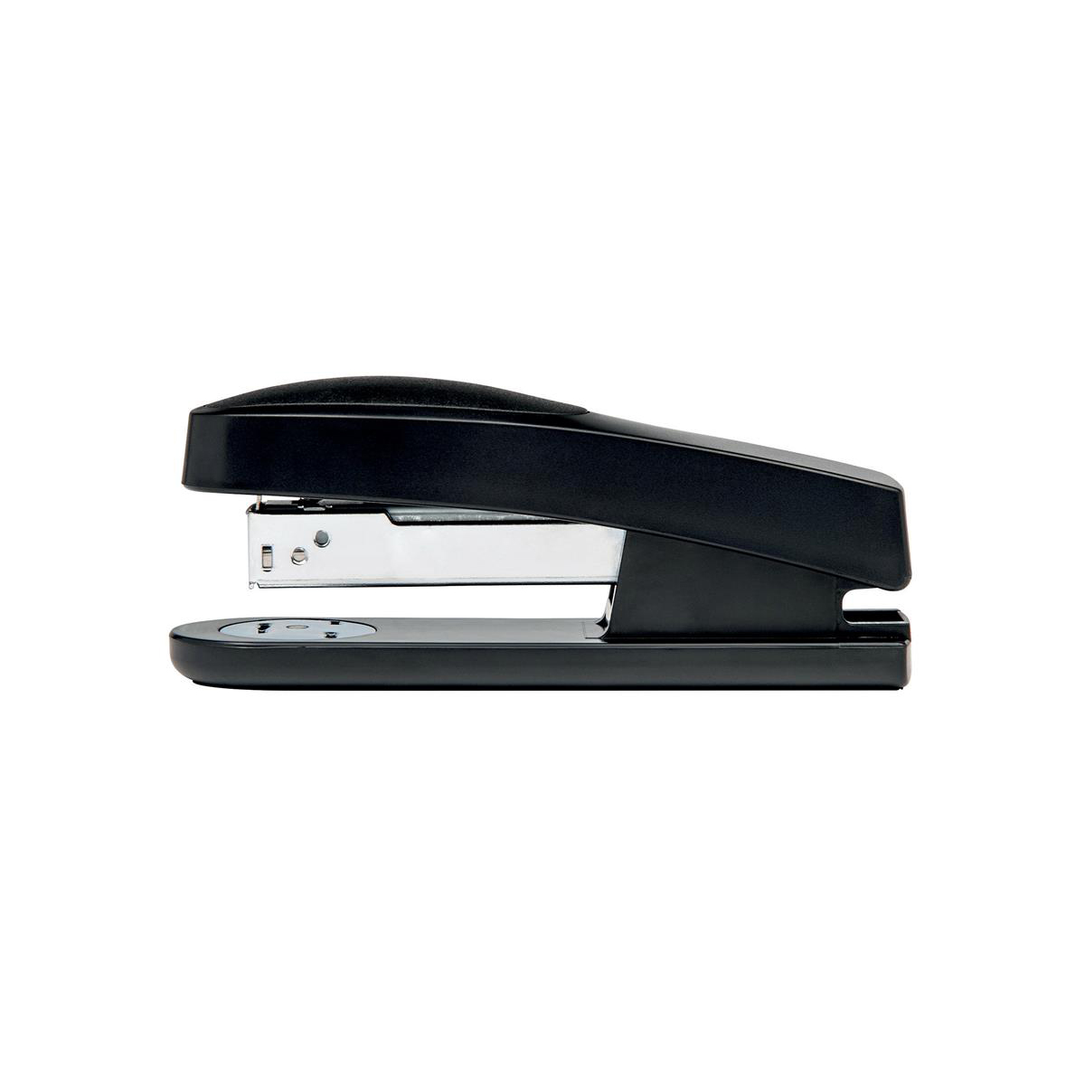 Image for 5 Star Office Half Strip Stapler Top Loading Rubber Base 25 Sheet Capacity Takes 26/6 Staples Black