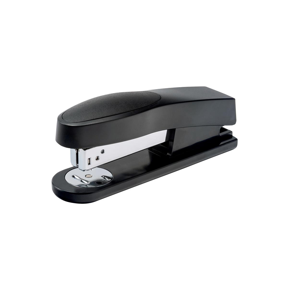 5 Star Office Half Strip Stapler Top Loading Rubber Base 25 Sheet Capacity Takes 26/6 Staples Black