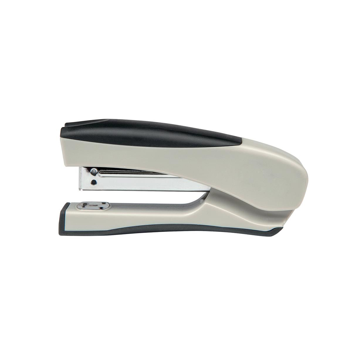 Image for 5 Star Office Half Strip Stand Up Stapler 20 Sheet Capacity Takes 26/6 and 24/6 Staples Black/Grey