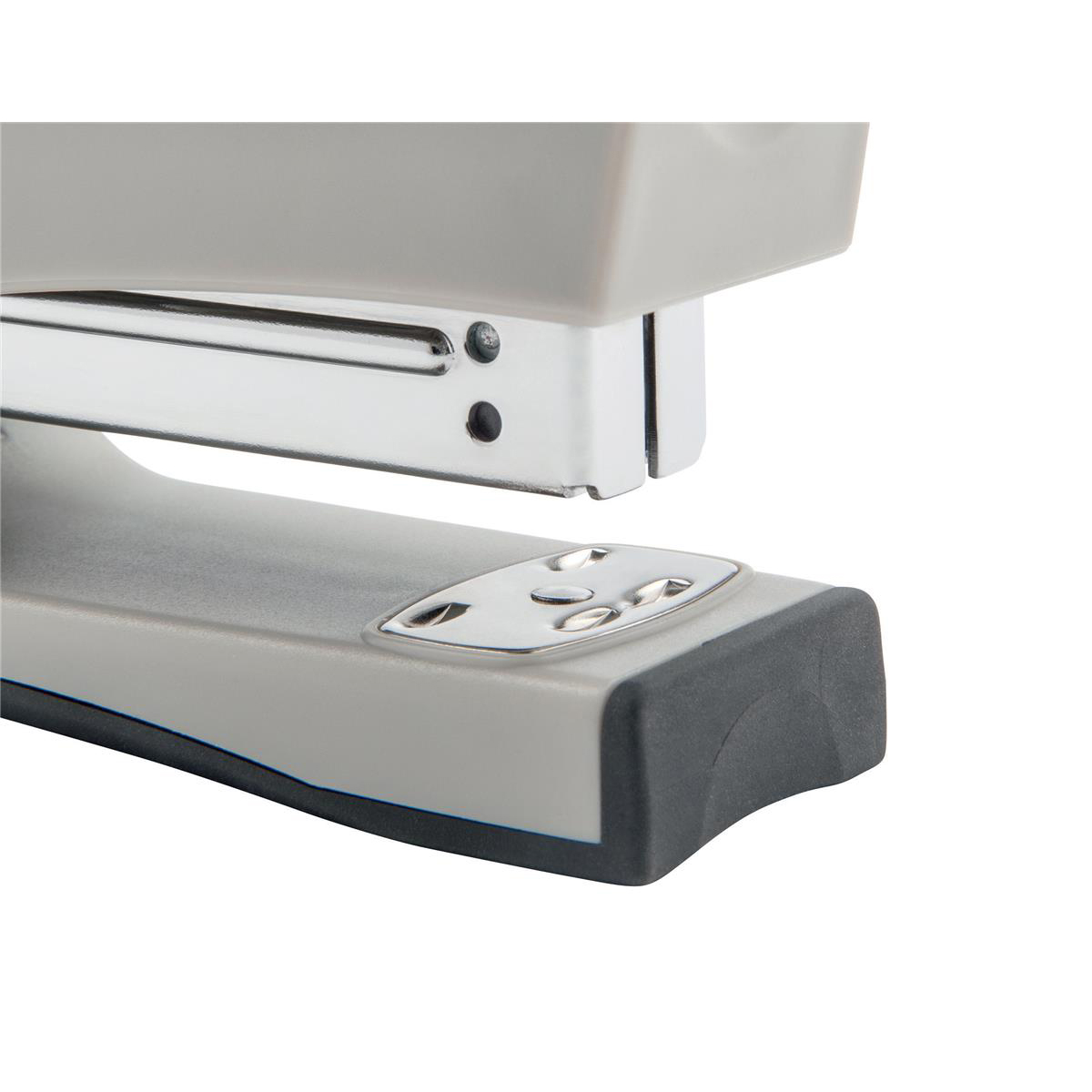 5 Star Office Half Strip Stand Up Stapler 20 Sheet Capacity Takes 26/6 and 24/6 Staples Black/Grey